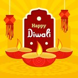 India divali festival concept background, flat style. India divali festival concept background. Flat illustration of india divali festival vector concept stock illustration