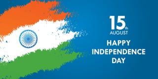 India dnia niepodległości kartka z pozdrowieniami wektoru ilustracja 15th august dzień niepodległości Obrazy Royalty Free