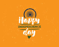 India dzień niepodległości, 15th august Wektorowi emblematy Obraz Royalty Free