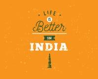 India dzień niepodległości, 15th august Wektorowi emblematy Obrazy Royalty Free