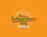 India dzień niepodległości, 15th august Wektorowi emblematy Zdjęcie Royalty Free