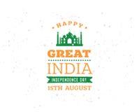India dzień niepodległości, 15th august Wektorowi emblematy Zdjęcie Stock