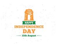 India dzień niepodległości, 15th august Wektorowi emblematy Fotografia Royalty Free