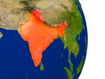 India on Earth Royalty Free Stock Photography