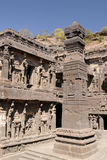India, Ellora Buddhist cave Stock Image
