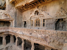 India, Ellora Buddhist cave Royalty Free Stock Photography