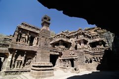 India, Ellora Buddhist cave Stock Image