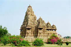 India Erotic Temples in Khajuraho. The temples of Khajuraho, decorated with erotic sculptures, India royalty free stock images