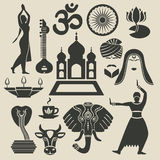 India Exotic icons set Stock Photo