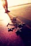 India,feet ans starfish Royalty Free Stock Photography