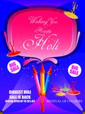 India Festival of Color Happy Holi Advertisement Sale background. Vector illustration of India Festival of Color Happy Holi Advertisement Sale background Stock Images