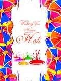 India Festival of Color Happy Holi background Stock Image