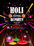 India Festival of Color Happy Holi DJ Party background. Vector illustration of India Festival of Color Happy Holi DJ Party background Royalty Free Stock Photography