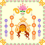 India festival Happy Durga Puja background Stock Image