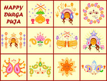 India festival Happy Durga Puja background Royalty Free Stock Images