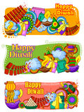 India festival of Lights Happy Diwali doddle background Royalty Free Stock Images
