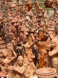 India: Figurines / Ornaments. In Market bazaar royalty free stock photo