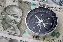 India financial and economy direction, new emerging market high Royalty Free Stock Photography