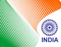 India flag. Flag of India with white background, vector illustration Royalty Free Stock Photography