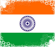 India flag. Flag of India with white background Stock Photos