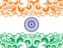 India flag. Flag of India with white background, vector illustration Royalty Free Stock Photos