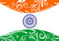 India flag. Flag of India with white background, vector illustration Royalty Free Stock Images