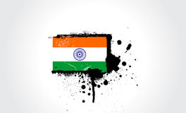 India flag. Computer generated illustration of the grunge flag of India Stock Photos