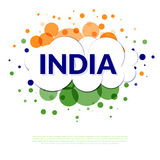 India flag banner. Abstract banner in India flag colors. Welcome India Stock Photos
