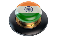 India flag button Royalty Free Stock Photography