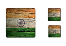 India Flag Buttons Stock Images