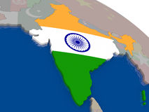 India with flag Royalty Free Stock Photos
