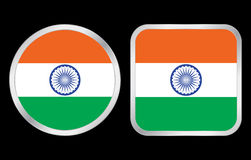 India flag icon Royalty Free Stock Photos