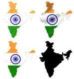 India flag over map collage Royalty Free Stock Image