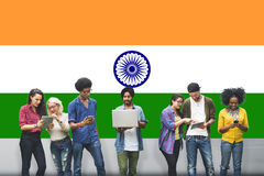 India Flag Patriotism Indian Pride Unity Concept Royalty Free Stock Photography