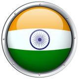 India flag on round badge Stock Photography