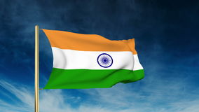 India flag slider style. Waving in the win with stock footage