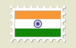 India Flag Stamp Stock Image