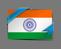 India flag tag Stock Photography
