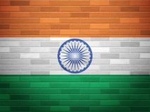Brick wall India flag Royalty Free Stock Photos