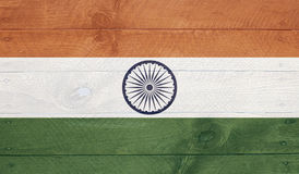 India flag on wood boards with nails Royalty Free Stock Image