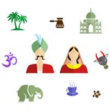 India flat design Royalty Free Stock Images