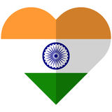 India flat heart flag Stock Images