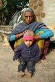 india folkpoor Arkivbild