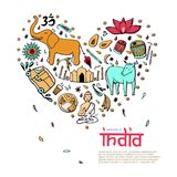 India in the form of heart. Stock Photos