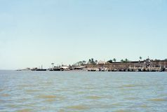 1977. India. The former Portuguese fort of Daman. Stock Photography