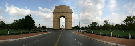 India gate. Panoramic view of war memorial, india gate in new delhi, India Stock Photography