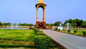 India Gate adorabile dietro la scena fotografia stock