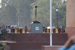 INDIA GATE | AMAR JAWAN JYOTI | DELHI. The India Gate, originally called the All India War Memorial, is a war memorial located astride the Rajpath, on the Stock Photo