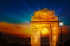India gate dawn sunrise Royalty Free Stock Photography