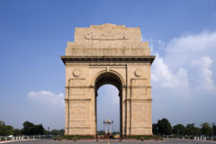 India Gate - Delhi in India. The India Gate Memorial in Delhi in India Royalty Free Stock Photography